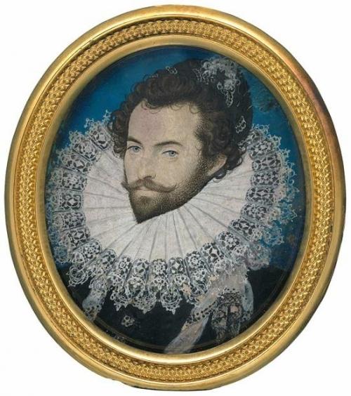 尼古拉斯·希威德,《沃尔特·雷利爵士》,1585年
