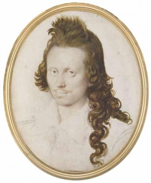 艾萨克·奥利弗的未完成的画作,《Henry Wriothesley的肖像》,1596年