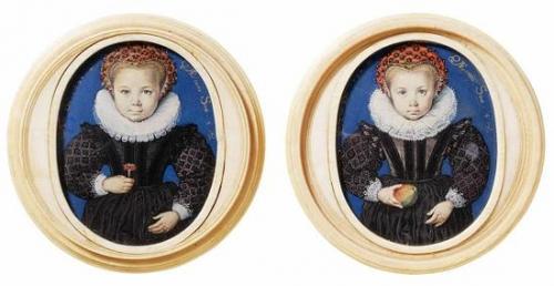艾萨克·奥利弗,《无名的五岁女孩》,1590年