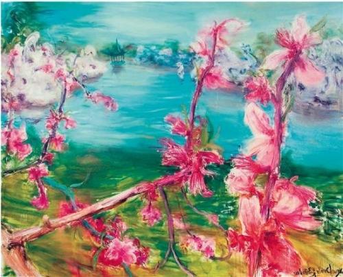 周春芽 桃花风景系列2006—苏州桃花 2006年作 布面油画
