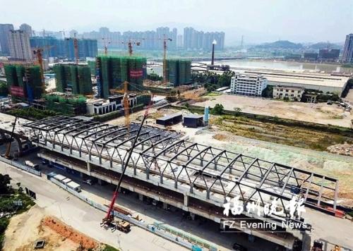 地铁6号线营前站钢结构封顶 系福建首座高架地铁站