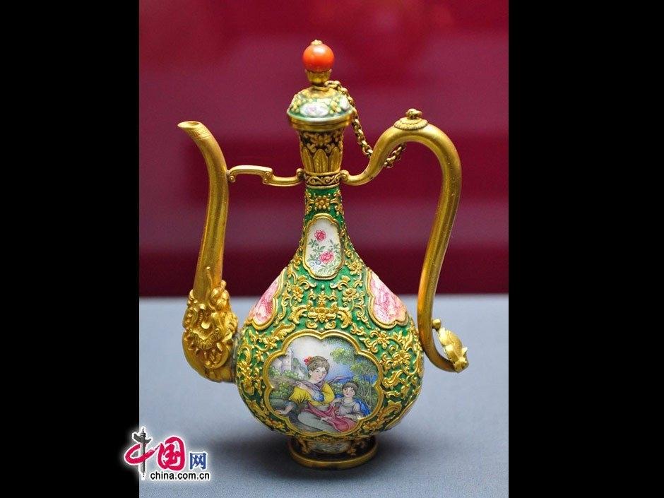 古代酒壶-故宫珍宝 清代帝后御用金器