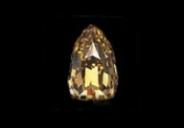 美国纽约展出罕见梨形黄色巨钻