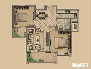 87㎡两房户型