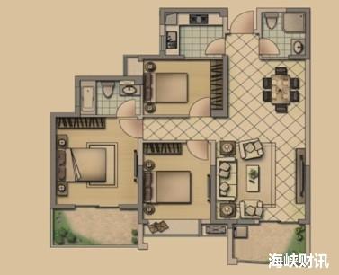 120㎡三房户型